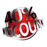Discount button Stock Photo