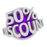 Discount button Stock Image