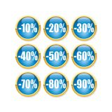 Discount button. A fully scalable vector illustration of Discount button Royalty Free Stock Photo