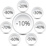 Discount buttons Royalty Free Stock Photography