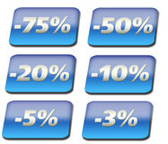 Discount buttons Stock Photos