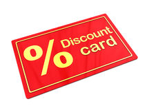 Discount card Stock Image