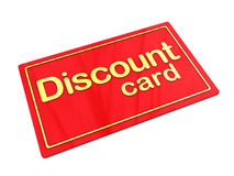 Discount card Royalty Free Stock Photos