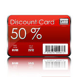 Discount card. Illustration of discount card on white background Royalty Free Stock Photo