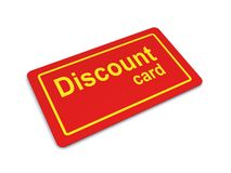 Discount Card. Illustration of a Generic Red Discount Card Stock Photos