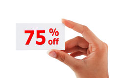 Discount card Royalty Free Stock Photo