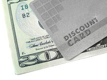 Discount Card And Money Royalty Free Stock Image