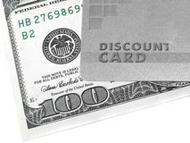 Discount Card And Money Stock Photography