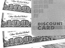 Discount Card And Money Royalty Free Stock Images