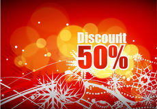 Discount card design Stock Image