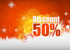 Discount card design Royalty Free Stock Image