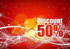Discount card design Royalty Free Stock Photography