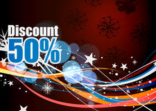 Discount card design Stock Photography