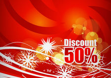 Discount card design Stock Images