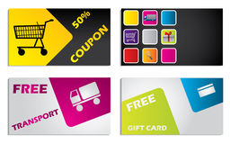 Discount card design set Stock Image