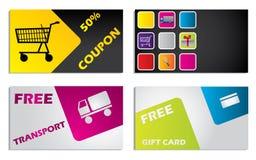 Discount card design set Stock Image