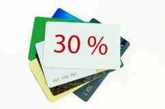 Discount card on white background Stock Images