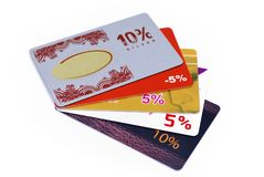 Discount cards Royalty Free Stock Photo