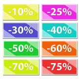 Discount cards Royalty Free Stock Images