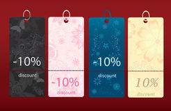 Discount cards  Royalty Free Stock Image