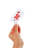 Discount cards Royalty Free Stock Photos