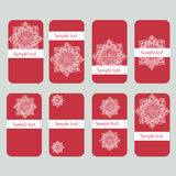 Discount cards with flower mandala Royalty Free Stock Photos