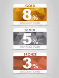 Discount cards polygonal background Royalty Free Stock Photography