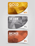 Discount cards polygonal background Royalty Free Stock Photos