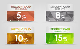 Discount cards polygonal background Royalty Free Stock Photo