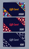 Discount cards set. Abstract background. Royalty Free Stock Photography