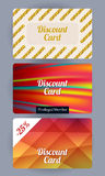 Discount cards set. Abstract background Royalty Free Stock Photos