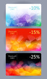 Discount cards set. Abstract background Stock Photography