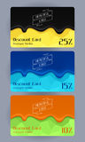 Discount cards set. Abstract background Royalty Free Stock Photography