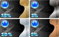 Discount cards set two Royalty Free Stock Image