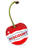 Discount on cherry vector illustration