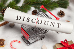Discount at christmas Stock Photography