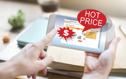 Discount Clearance Hot Price Promotion Concept Stock Photo