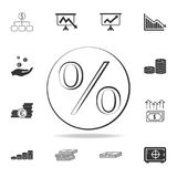 Discount, clearance persantage logo icon. Detailed set of finance, banking and profit element icons. Premium quality graphic desig. N. One of the collection Stock Photography