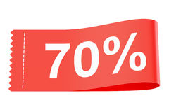 70% discount clothing tag. 3D rendering Stock Photo