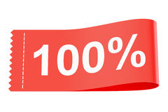 100% discount clothing tag Stock Photography