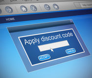 Discount code concept. Stock Images