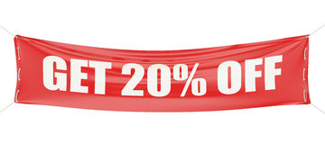 Discount 20 % concept. On white background royalty free illustration
