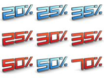 Discount Concepts  - Set of 3D Illustrations. Royalty Free Stock Photo