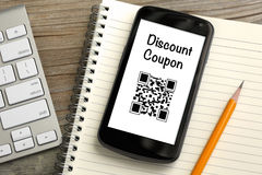 Discount coupon concept Stock Photo