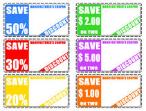 Discount coupons Royalty Free Stock Images