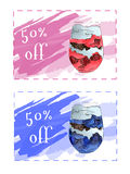 Discount coupons for dessert. Royalty Free Stock Photography
