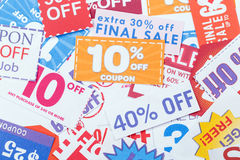 Discount coupons Stock Photo