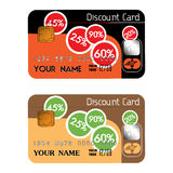 Discount credit cards Stock Photo