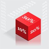 Discount Cube Royalty Free Stock Photos