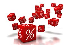 Discount Cubes. For brochures and posters, 3d cubes Stock Photo